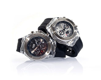 ecrins - montres round clear : Round Clear Chrono